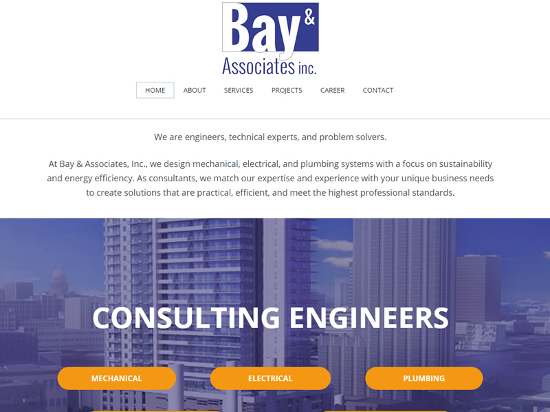 Baymep.com - Responsive Website developed by McGee Technologies